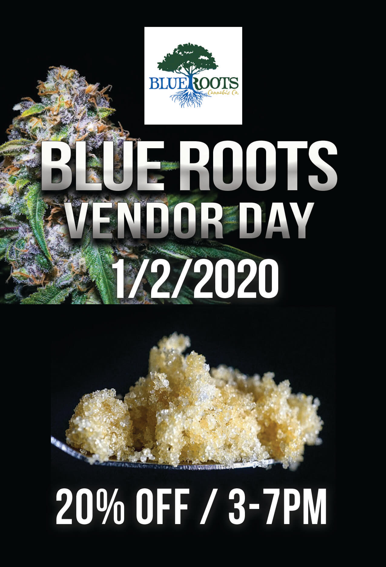 BLUE ROOTS Vendor Day – 1/2/2020
